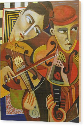 Duo Romantico Wood Print by Niki Sands