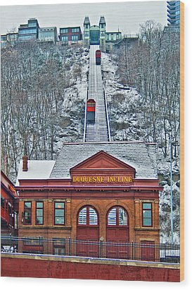 Duquesne Incline Wood Print by Mark Dottle