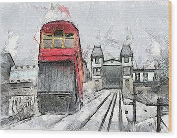 Duquesne Incline Wood Print by Matt Matthews