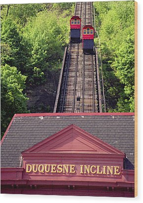 Duquesne Incline Wood Print by Tom Leach
