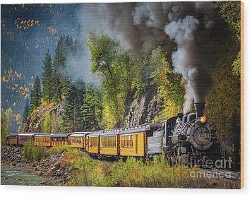 Durango-silverton Narrow Gauge Railroad Wood Print by Inge Johnsson