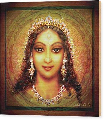 Durga In The Sri Yantra Wood Print by Ananda Vdovic