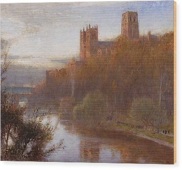 Durham Cathedral Wood Print by Albert Goodwin