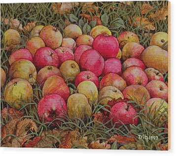 Durnitzhofer Apples Wood Print by Ditz