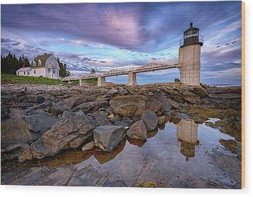 Wood Print featuring the photograph Dusk At Marshall Point by Rick Berk