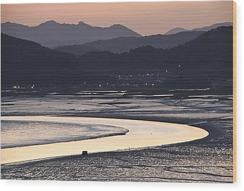 Wood Print featuring the photograph Dusk At Suncheon Bay by Ng Hock How