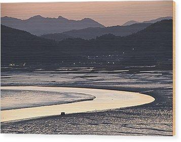 Dusk At Suncheon Bay Wood Print by Ng Hock How