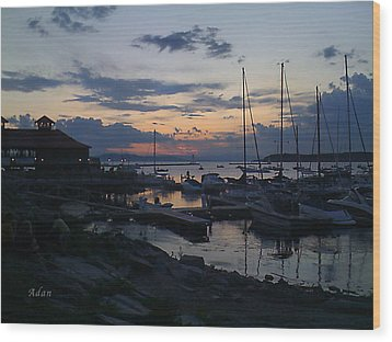 Wood Print featuring the photograph Dusk Begins To Sleep by Felipe Adan Lerma