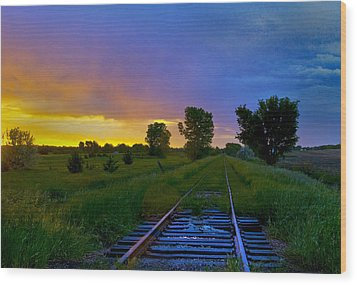 Dusk Wood Print by Don Durfee