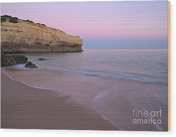 Dusk In Albandeira Beach Wood Print by Angelo DeVal