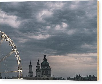 Wood Print featuring the photograph Dusk Over Budapest by Alex Lapidus