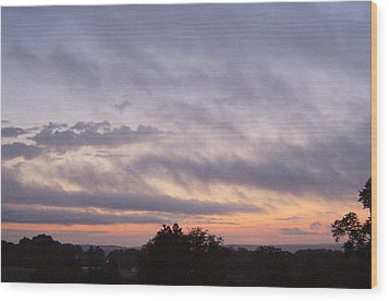 Wood Print featuring the photograph Dusk by Skyler Tipton