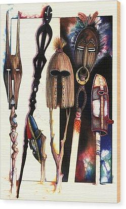 Dust To Dawn Wood Print by Anthony Burks Sr