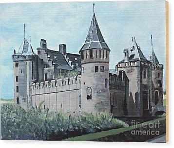 Dutch Castle In Muiden Wood Print
