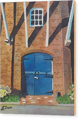 Wood Print featuring the painting Dutch Door by LeAnne Sowa