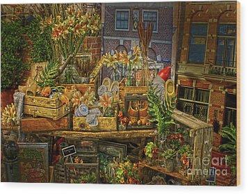Dutch Shop Wood Print by Sandy Moulder