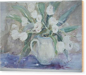 Dutch Tulips Wood Print by Dorothy Herron