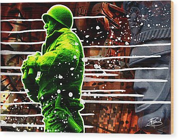 Duty Honor Country Wood Print by Michael Figueroa