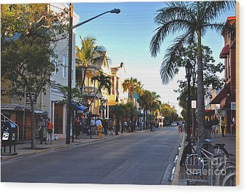 Duval Street In Key West Wood Print