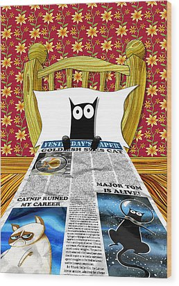Duvet Cover Wood Print by Andrew Hitchen