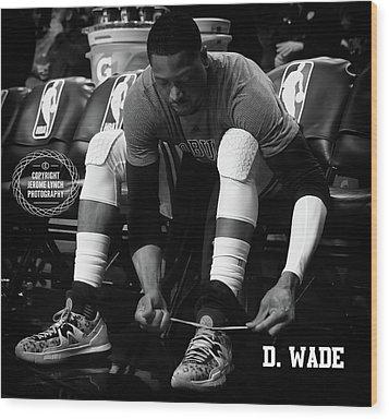 Dwayne Wade Wood Print