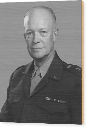 Dwight D. Eisenhower  Wood Print by War Is Hell Store