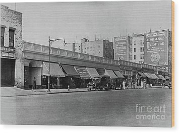 Wood Print featuring the photograph Dyckman Street, 1927 by Cole Thompson