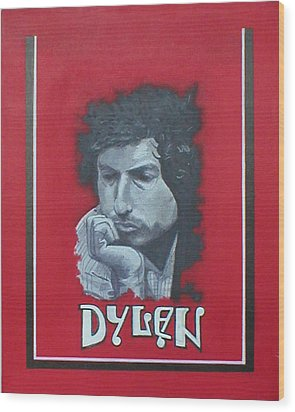Dylan Wood Print by Jimmy  Ovadia