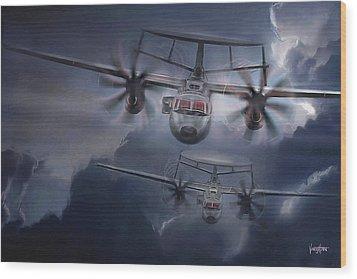 E-2d Hawkeye Wood Print