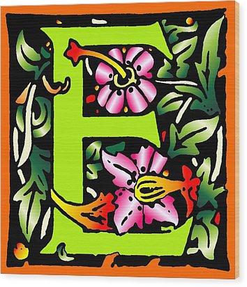 E In Green Wood Print by Kathleen Sepulveda
