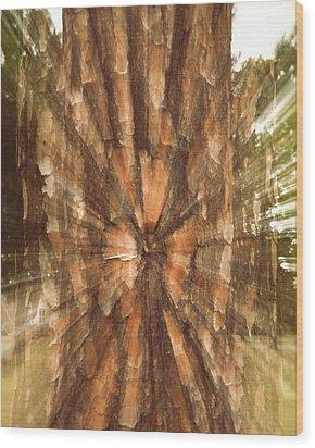 E N E R G Y  Wood Print by Gina Zhidov
