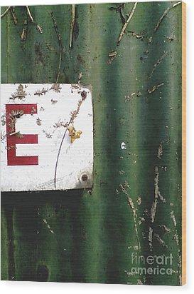 E Wood Print by Rebecca Harman