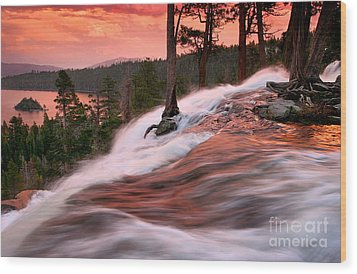 Eagle Falls Evening Wood Print by Buck Forester