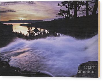 Eagle Falls Morning Wood Print by Buck Forester