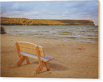 Wood Print featuring the photograph Eagle Harbor Summer Is Over by Heidi Hermes