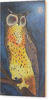 Eagle Owl Wood Print by Eric Kempson
