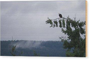 Eagle Powers Wood Print