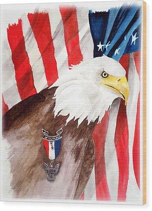 Eagle Scout Wood Print by Rosalea Greenwood