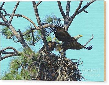 Wood Print featuring the photograph Eagle Series The Nest by Deborah Benoit