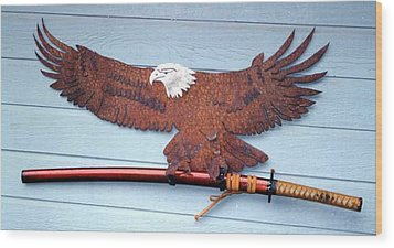 Eagle Sold   Wood Print by Steve Mudge