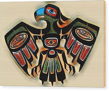 Eagle Symbol 2 Wood Print