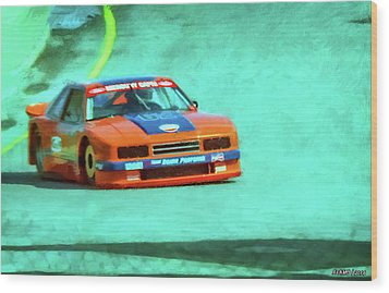 Early 1980s Mercury Capri Scca Trans-am Racer Wood Print by Ken Morris