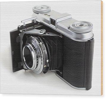 Early 35mm Film Camera Wood Print