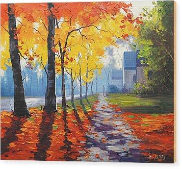 Early Autumn Light Wood Print by Graham Gercken