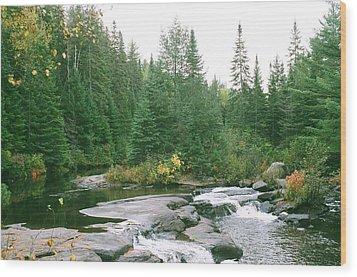 Early Autumn On The Madawaska River Wood Print