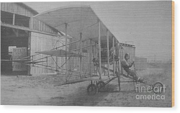 Early Aviation Wood Print by Gwyn Newcombe