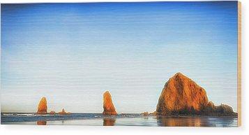 Early Dawn Shores Wood Print