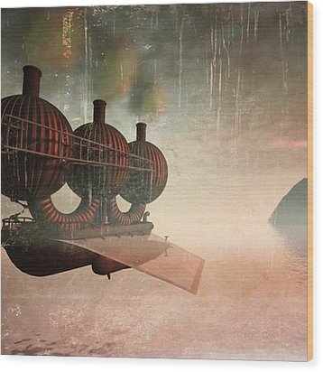 Early Departure - A Piece Of Work From Wood Print by John Edwards