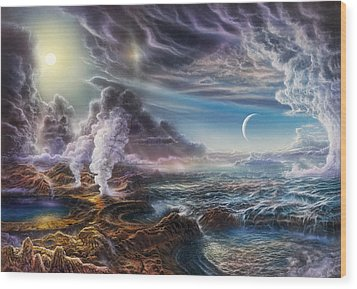 Early Earth Wood Print by Don Dixon