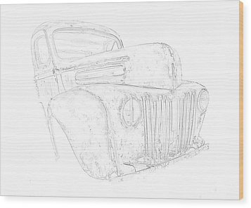 Early Ford Truck Wood Print by Jeffrey Jensen